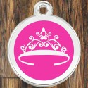 Enamel Pet Tags Round Crown