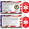 CNATTAGS - Service Dog ID Tag Kit, (50 ADA Info Cards + Military Tags)