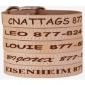 CNATTAGS - Leather Pet Collars - Personalized Collars For Dogs and Cats, Multiple Sizes and Colors, Premium authentic Leather Made in USA