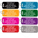 CNATTAGS Pet ID Tags Luggage/Carrier Shape, 8 Colors, Personalized Premium Aluminum