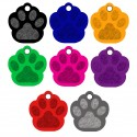 Aluminum Pet Tags (Paw)