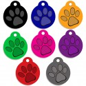Aluminum Pet Tags (Round Paw)