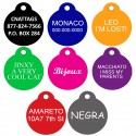 Aluminum Pet Tags (Round) by CNATTAGS