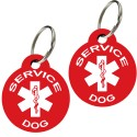 Service Dog ID Tags (Round) (Set of 2)