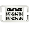 Stainless Steel Pet Tags (Slide-On) by CNATTAGS