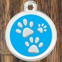Enamel Pet Tags Round Paws