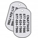 Stainless Steel - GI Rolled Edge Military Tags (Set of 2)
