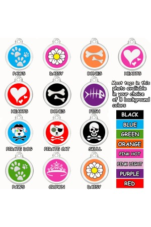 Enamel Pet Tags Round (Many Shapes)