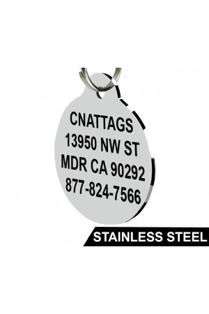 Stainless Steel Pet ID Tags (Round)