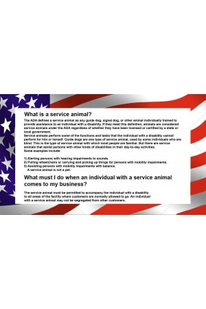 Service Dog Cards, 50 Double Sided ADA Info Cards explain your legal rights by CNATTAGS