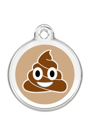 Enamel Pet Tags Round (Poop Emoji)