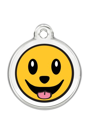 Enamel Pet Tags Round (Smiley Face)