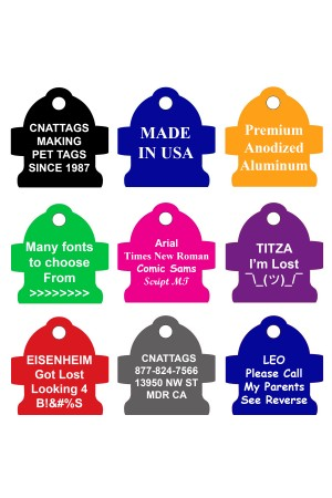CNATTAGS Pet ID Tags Fire Hydrant Shape, 8 Colors, Personalized Premium Aluminum