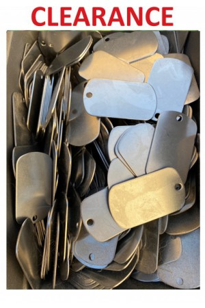 $0.99/each - Stainless Steel - Bulk Price Pet ID Tags Personalized (100 MILITARY)