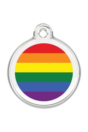 Enamel Pet Tags Round (Rainbow Pride)