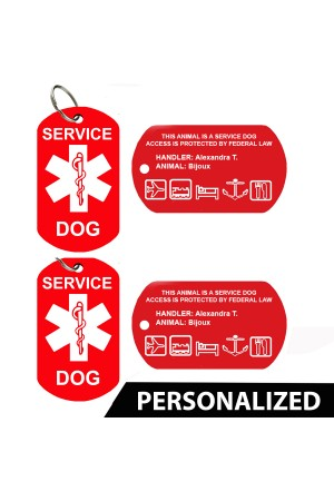 Service Dog ID Badge (Set of 2)