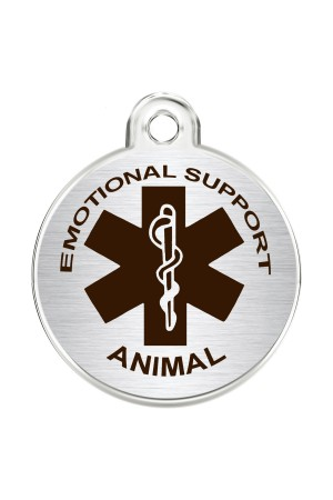 CNATTAGS Stainless Steel Pet ID Tags Personalized Designers Round Various Designs (ESA)