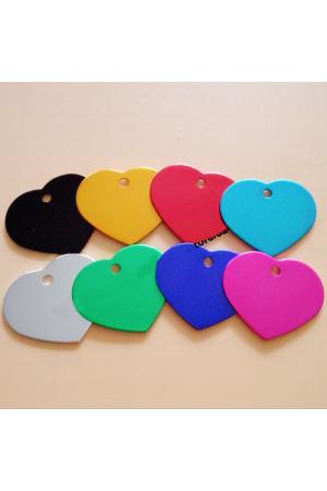 Blank Tags - Aluminum Heart
