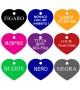 CNATTAGS Pet ID Tags Heart Shape, 8 Colors, Personalized Premium Aluminum