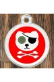 Enamel Round Pirate Cat