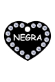 Swarovski Crystals Pet ID Tags Personalized Various Shapes Premium Aluminum by CNATTAGS (Heart Black)