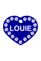 Swarovski Crystals Pet ID Tags Personalized Various Shapes Premium Aluminum by CNATTAGS (Heart Blue)