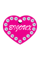 Swarovski Crystals Pet ID Tags Personalized Various Shapes Premium Aluminum by CNATTAGS (Heart Pink)