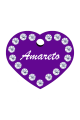 Swarovski Crystals Pet ID Tags Personalized Various Shapes Premium Aluminum by CNATTAGS (Heart Purple)