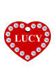 Swarovski Crystals Pet ID Tags Personalized Various Shapes Premium Aluminum by CNATTAGS (Heart Red)