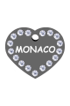 Swarovski Crystals Pet ID Tags Personalized Various Shapes Premium Aluminum by CNATTAGS (Heart Silver)