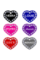 Swarovski Crystals Pet ID Tags Personalized Various Shapes Premium Aluminum by CNATTAGS (Main)
