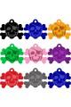 CNATTAGS Pet ID Tags Skull Shape, 8 Colors, Personalized Premium Aluminum